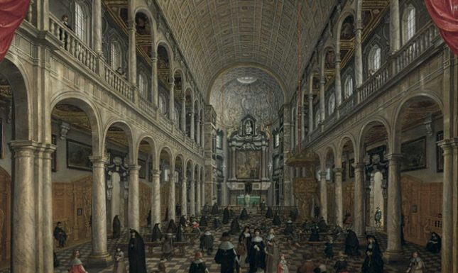 Fig 3 Vrancx Interior of Jesuit Church