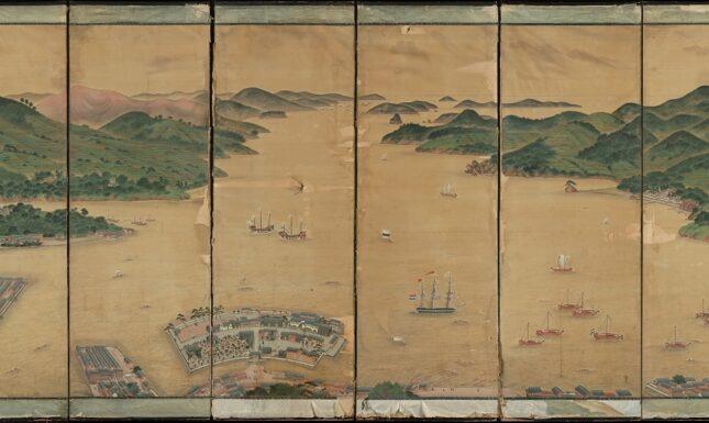 Kawahara Keiga View of Nagasaki bay