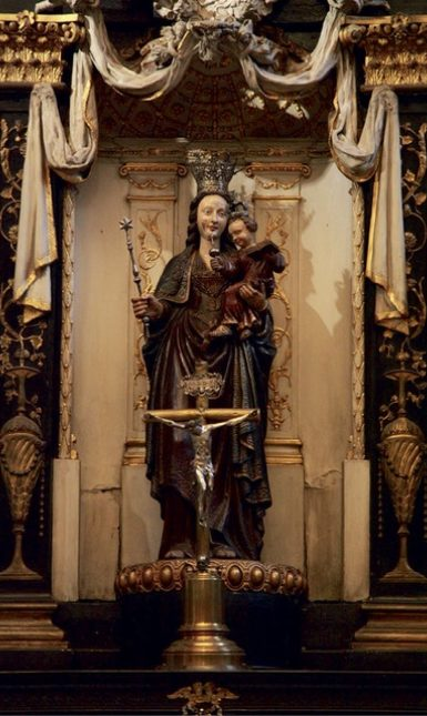 Fig 2 Statue of the Virgin